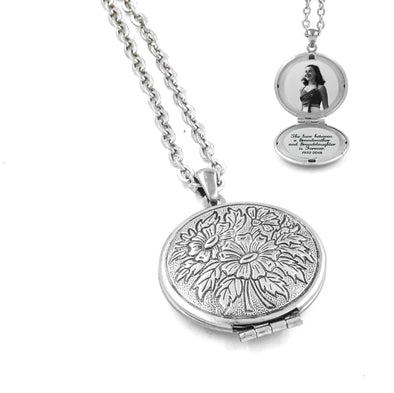 Vintage Style Locket with Floral Design