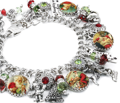 santa charm bracelet workshop