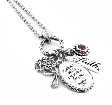 Personalized Christian Scripture Necklace