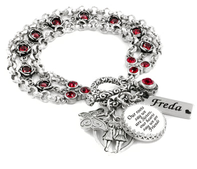 personalized sister charm bracelet
