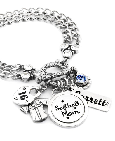 softball mom bracelet
