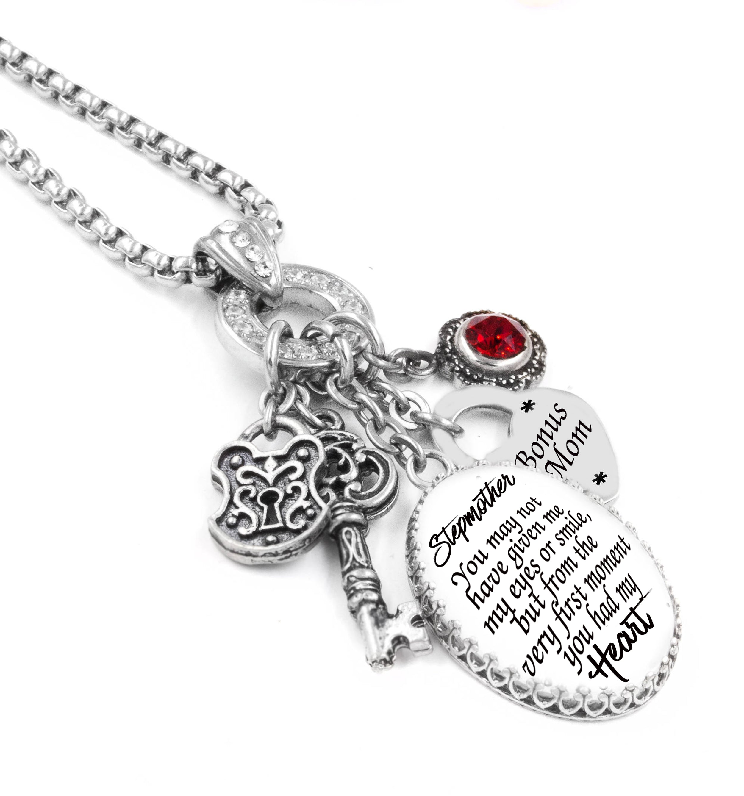 Stepmother Birthstone Necklace for Mother's Day