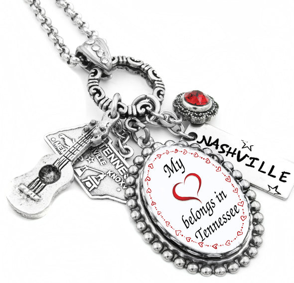 state of Tennessee charm necklace
