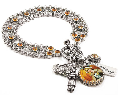 autumn-jewelry-fall-charm-bracelet