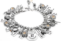 Twelve Days of Christmas Silver Bracelet