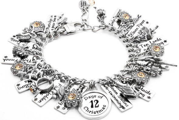 Twelve Days of Christmas charm bracelet