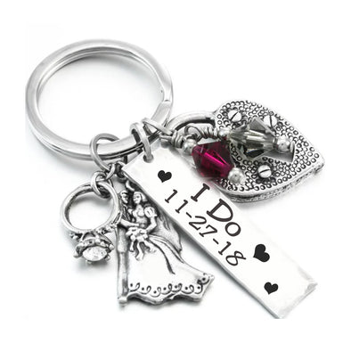 Custom Wedding Keychain
