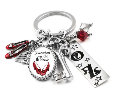 Wizard of OZ Key Chain, Ruby Red Slippers