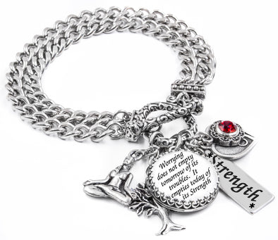 charm bracelet with quote inspirational