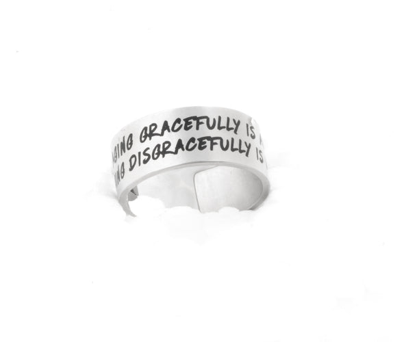 Cuff Ring with Quote