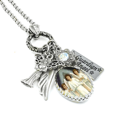 angel necklace, guardian angel