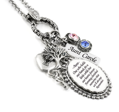 Personalized Aunt Charm Necklace