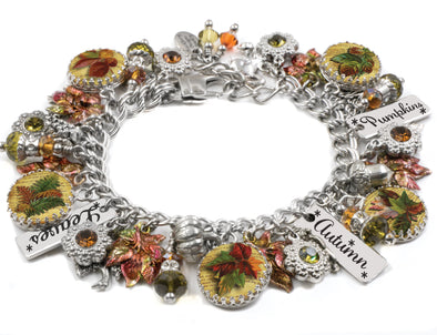autumn-leaves-charm-bracelet