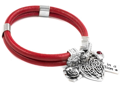 Celtic Heart Leather Bracelet