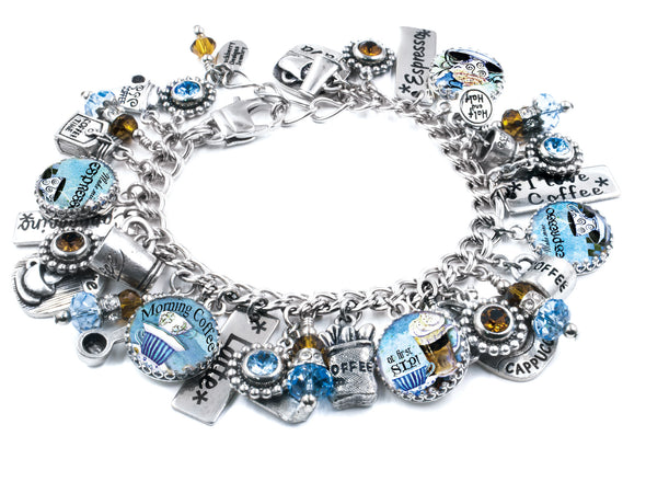 coffee bracelet with 30 charms