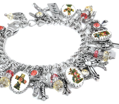 cross-charm-bracelet-christian jewelry
