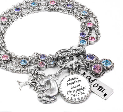 mothers bracelet with kids names