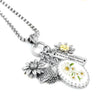 Yellow Daisy Charm Necklace