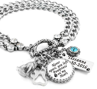 Personalized Dog Charm Bracelet