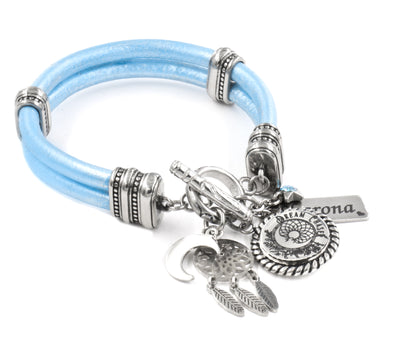 Dream catcher charm bracelet