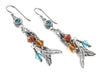 Indian Feather Earrings in silver