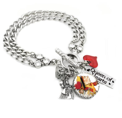 queen of hearts charm bracelet