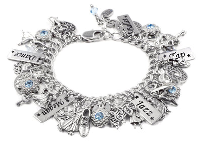 Perosnalized Girls Dance Charm Bracelet