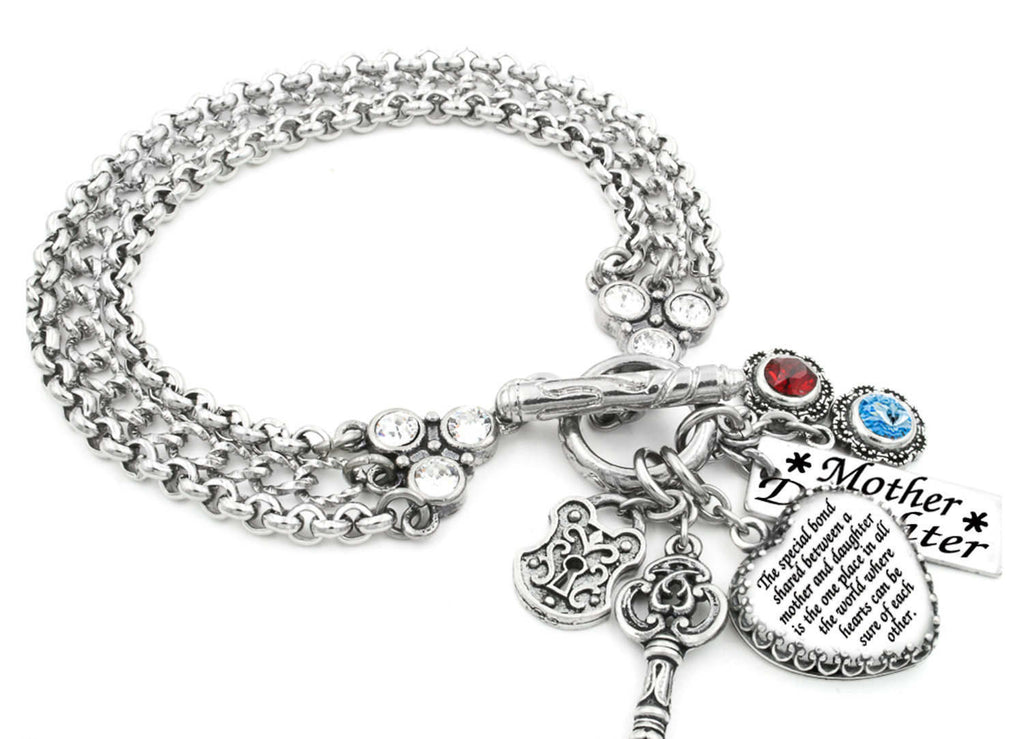 Love Between a Mother and Daughter Charm Bracelet