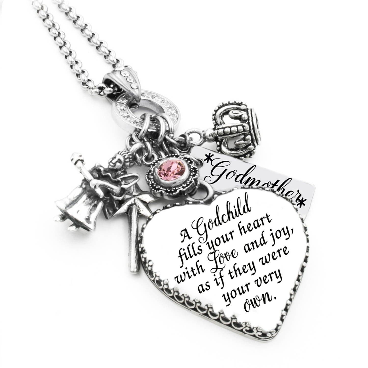 Mothers gifts personalize jewelry with childrens names birthstone godmother necklace aloadofball Gallery
