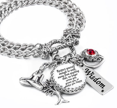 Inspirational Charm Bracelet, Respect Yourself