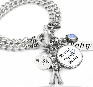 military personalized bracelet