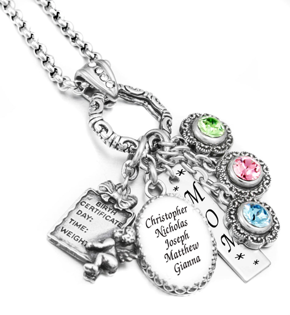Personalized Mothers Necklace Name Of Children