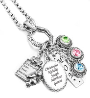 Mother's or Grandmother's Birthstone Necklace
