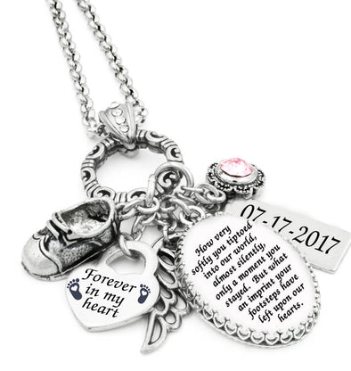 miscarriage charm necklace