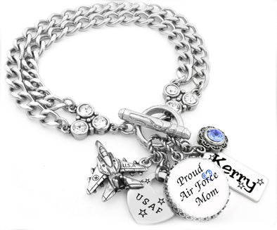 united stated air force charm bracelet