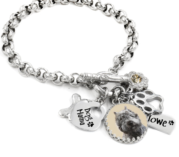 dog mom photo bracelet