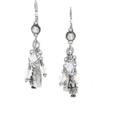 12 Days of Christmas Earrings, 8th Day, Maids a Milking