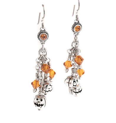Pumpkin Sterling Silver Earrings