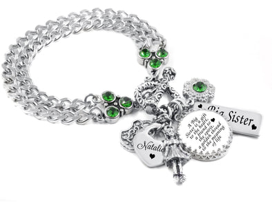 Personalized Sisters Charm Bracelet, Big Sister