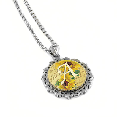 Sunflower Monogram Necklace