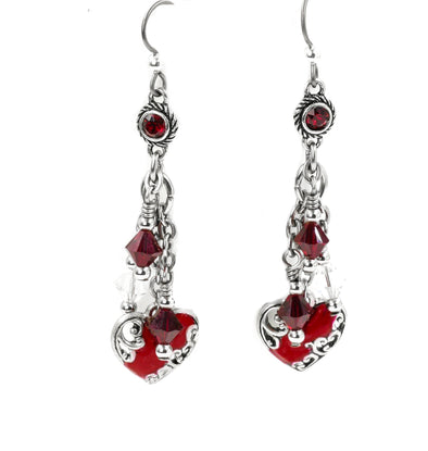 Personalized Birthstone Heart Earrings