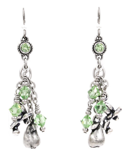 partridge in a pear tree 12 days of christmas earrings