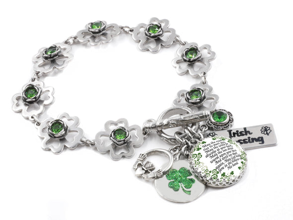 st. patricks day jewelry, 4 leaf clover jewelry, shamrock jewelry