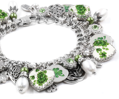 Irish Four Leaf Clover Bracelet