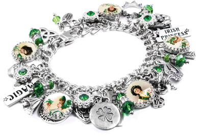 st patricks day bracelet, green bracelet