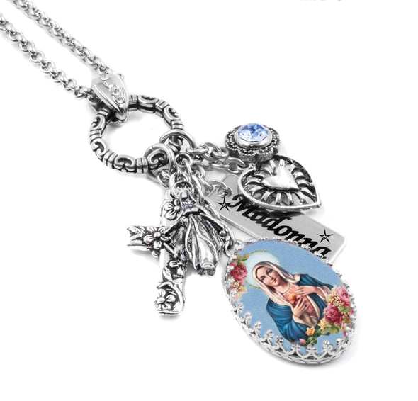 Madonna catholic religious necklace