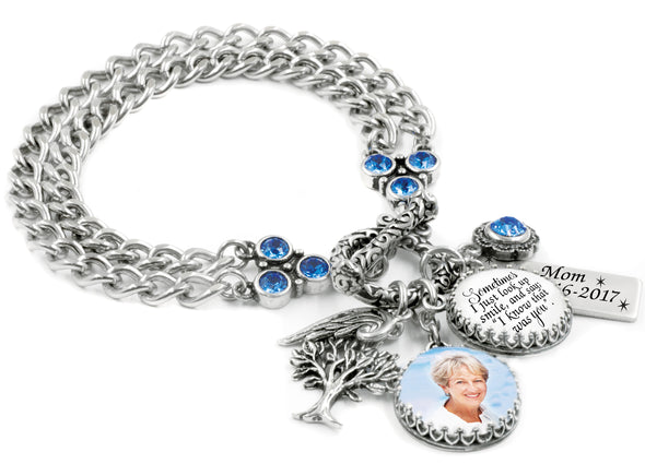 Memorial Bracelet with photo and quote