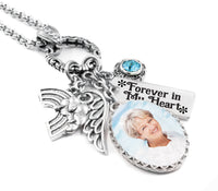 Personalized Photo Funeral Necklace