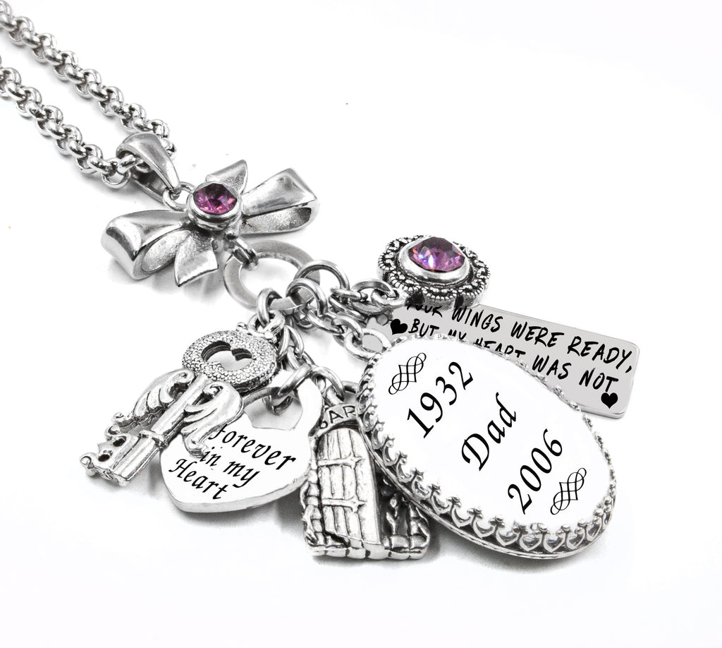 memorial charm necklace