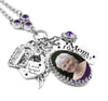 Memorial Photo Pendant with Birthstone